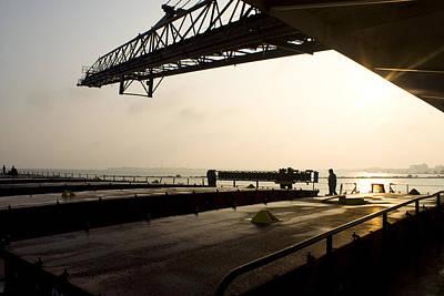 Merchant Mariners Photograph - Daybreak In Sandusky by Tim  Telep