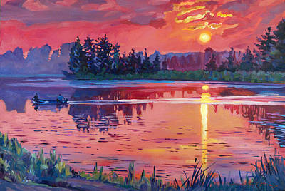Selecting Painting - Daybreak Reflection by David Lloyd Glover