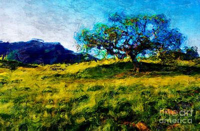 Painting - Daydream Oak On The Hill by Stella Violano