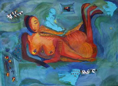 Daydreamer Painting - Daydreamer by Rosemen Elsayad