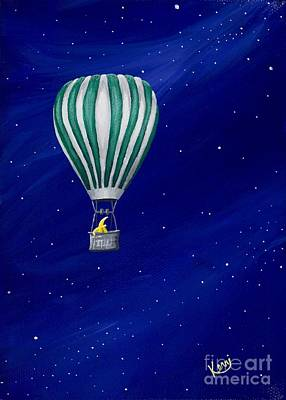 Painting - Daydreaming In A Hot Air Balloon by Kerri Ertman