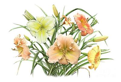 Painting - Daylily Bouquet by Artellus Artworks
