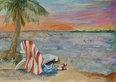 Mixed Media - Day's End At The Beach by Heidi Patricio-Nadon