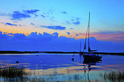 Photograph - Day's End Rock Harbor by Rick Berk