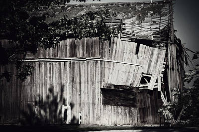 Photograph - Days Gone By Bw by Paulette B Wright