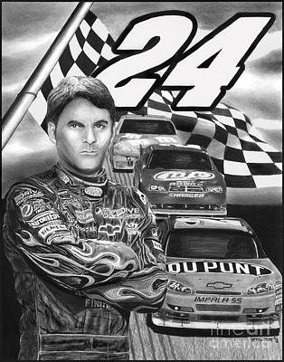 Drawing - Days Of Thunder Jeff Gordon	 by Peter Piatt