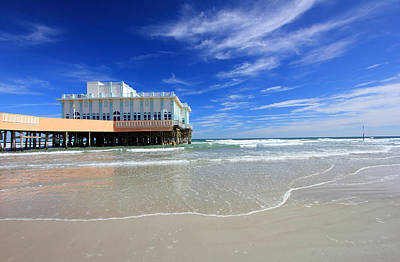 Photograph - Daytona Beach Pier by Mary Haber