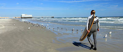 Photograph - Daytona Beach Surfer I by Mary Haber