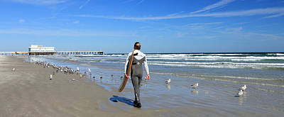 Photograph - Daytona Beach Surfer IIi by Mary Haber
