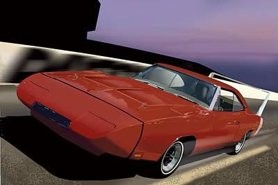 Racetrack Digital Art - Daytona Nights by Richard Herron