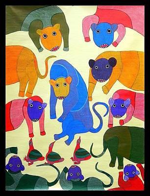 Jangarh Singh Shyam Painting - Db 81 by Durga Bai Vyam