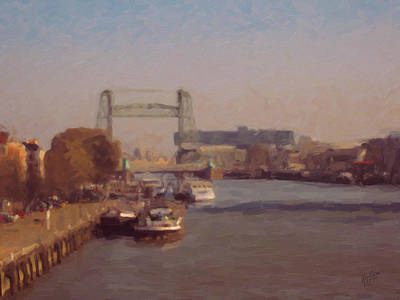 Bridge Painting - De Hef Rotterdam 2 by Nop Briex