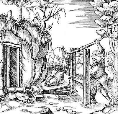 De Re Metallica, Bellows, 16th Century Art Print by Science Source