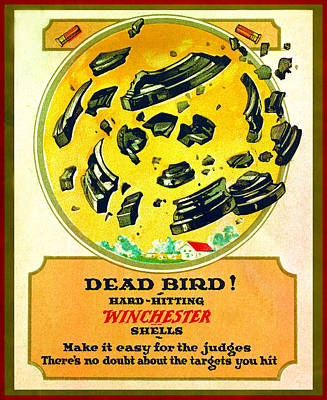 Shotshell Painting - Dead Bird by Unknown