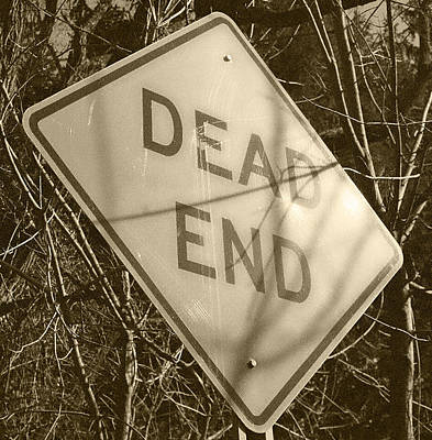 Photograph - Dead End Sepia Tone by Sarah Reed