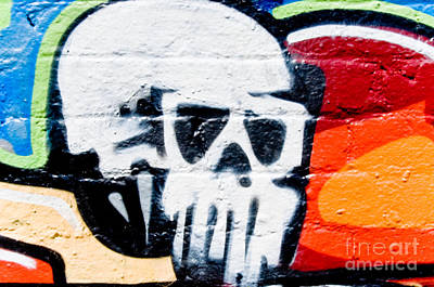 Grunge Skull Painting - Dead Head Spray-paint by Yurix Sardinelly