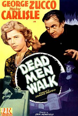 Horror Movies Photograph - Dead Men Walk, Top From Left Mary by Everett