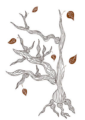 Graphic Drawing - Dead Wood by Frank Tschakert