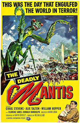 1957 Movies Photograph - Deadly Mantis, The, Alix Talton, Craig by Everett