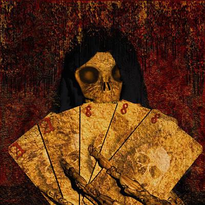 Deadmans Hand Art Print by Robert Matson