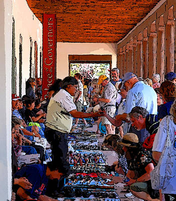 Mexico People Painting - Dealing At The Palace by David Lee Thompson