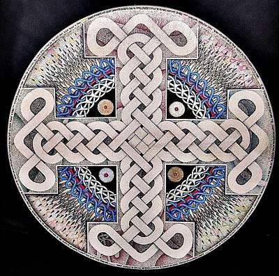 Celtic Cross Drawing - Deandrum by Dean Ellis