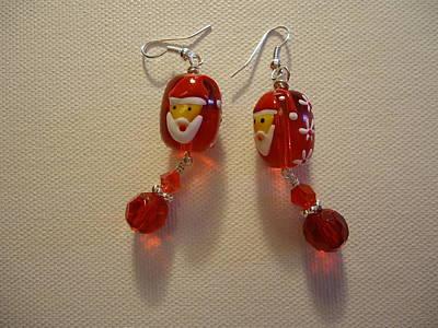 Dear Santa Earrings Art Print by Jenna Green