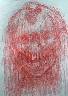 Drawing - Death In A Veil by Ralph Nixon Jr