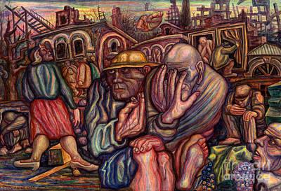 Vladimir Feoktistov Painting - Death In Grozny by Vladimir Feoktistov