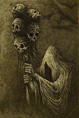 Death Art Print by Maciej Kamuda