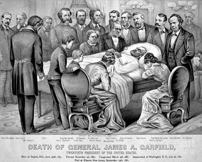 Death Of Garfield, 1881 Art Print