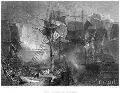 Lord Admiral Nelson Photograph - Death Of Nelson, 1805 by Granger