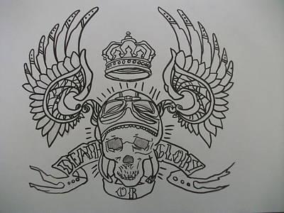 Drawing - Death Or Glory by Megan Muzquiz