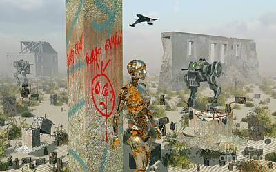 Destruction Digital Art - Death, Ruins And Decay Following by Mark Stevenson