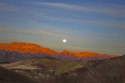 Photograph - Death Valley Moonrise by Marie Morrisroe