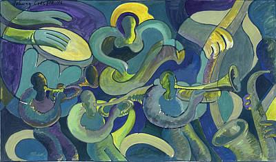 Merengue Painting - Debajo De Una Luna Tropical by John Crespo Estrella