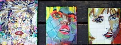 Mitch Brookman Glass Art - Debbie Harry by Mitch Brookman
