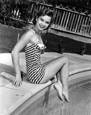 Debbie Reynolds Poolside, 1954 Print by Everett