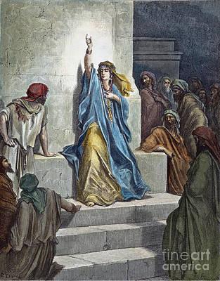 Drawing - Deborah by Gustave Dore
