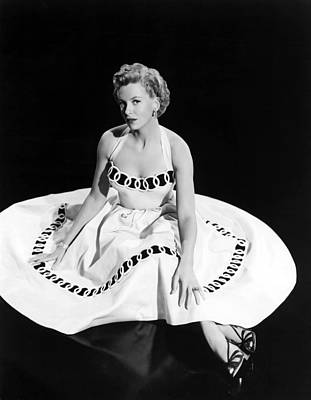 Full Skirt Photograph - Deborah Kerr, 1954 by Everett