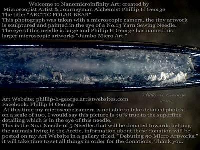 Jumbo Micro Art Painting - Debuting Polar Bear Micro Art Donation  by Phillip H George