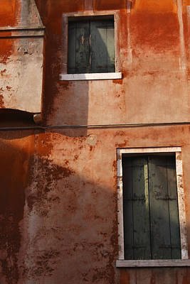 Decayed Facade Of A Building Venice Art Print by Trish Punch