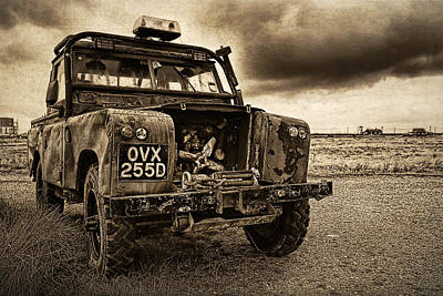 Decaying Landrover At Dungeness Art Print by David Turner