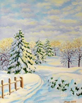 Painting - December Morning by Inese Poga