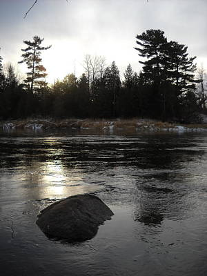 Photograph - December Morning River Ice by Kent Lorentzen