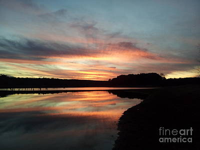 Photograph - December Sunset At Lake Juliette by Donna Brown