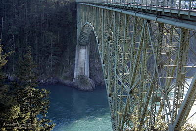 Photograph - Deception Pass Bridge South Span by Randall Thomas Stone