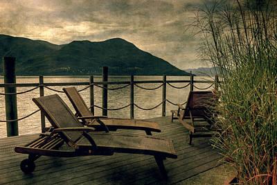 Deck Chairs Art Print by Joana Kruse