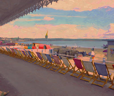 Briex Painting - Deck Chairs Weymouth by Nop Briex