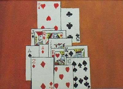 Imitation Painting - Deck Of Cards by Rahul Narasimhan
